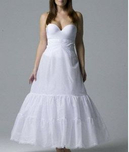 Plus Size A Line Wedding Dress Gown Slip Tulle